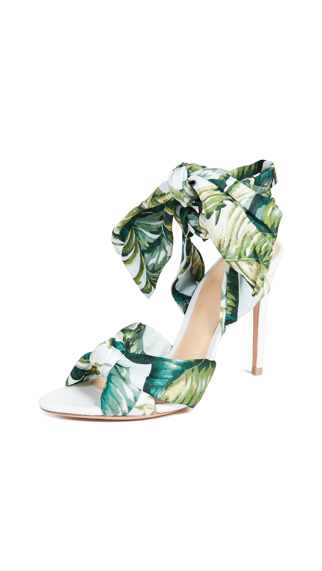 Alexandre Birman Kacey 100mm Wrap Sandals - Green/White