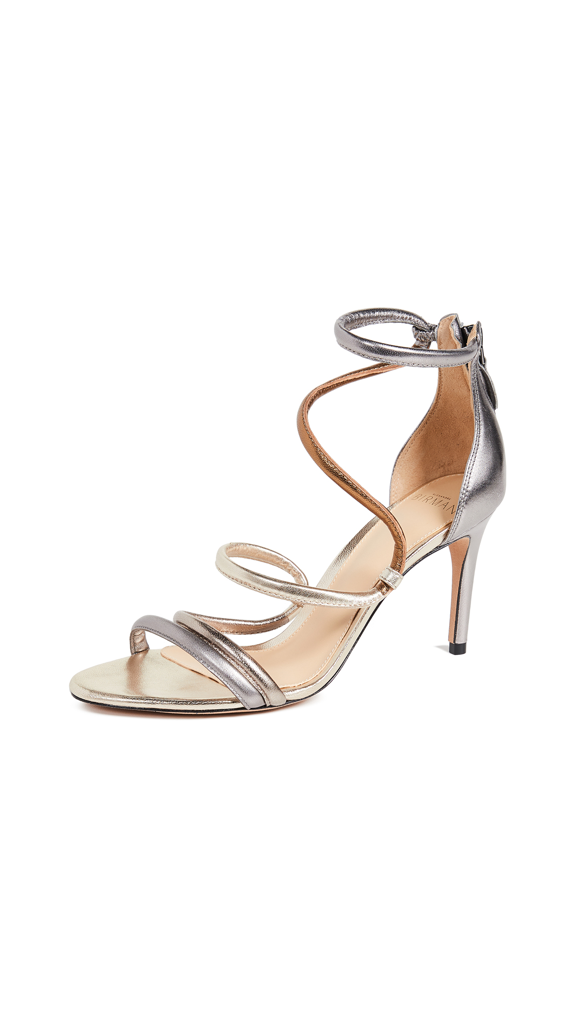 Alexandre Birman Gianny 85mm Sandals - Grafite/Golden/Luna/Bronze