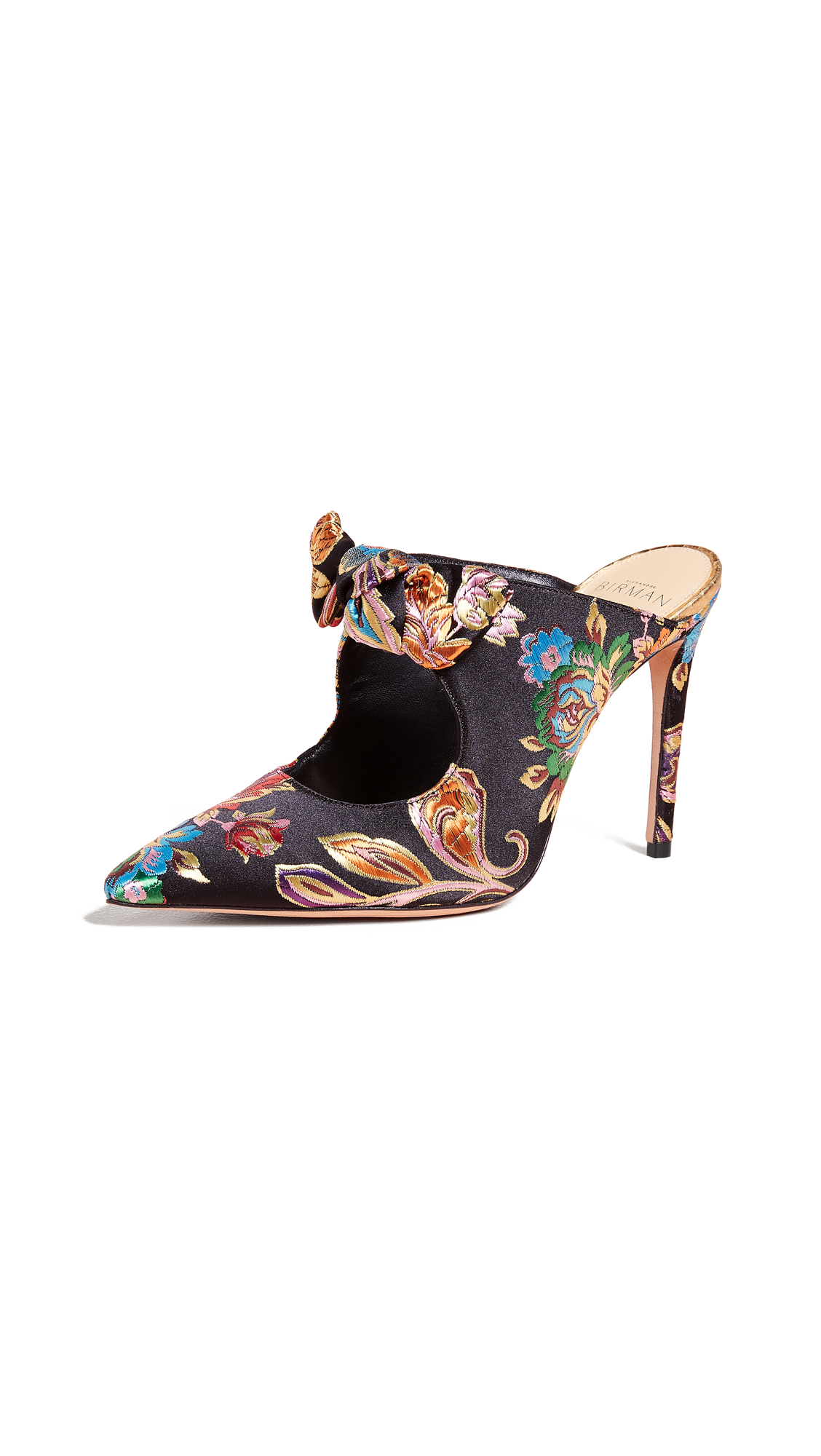 Alexandre Birman Evelyn Fab Mules - Multi Floral/Golden