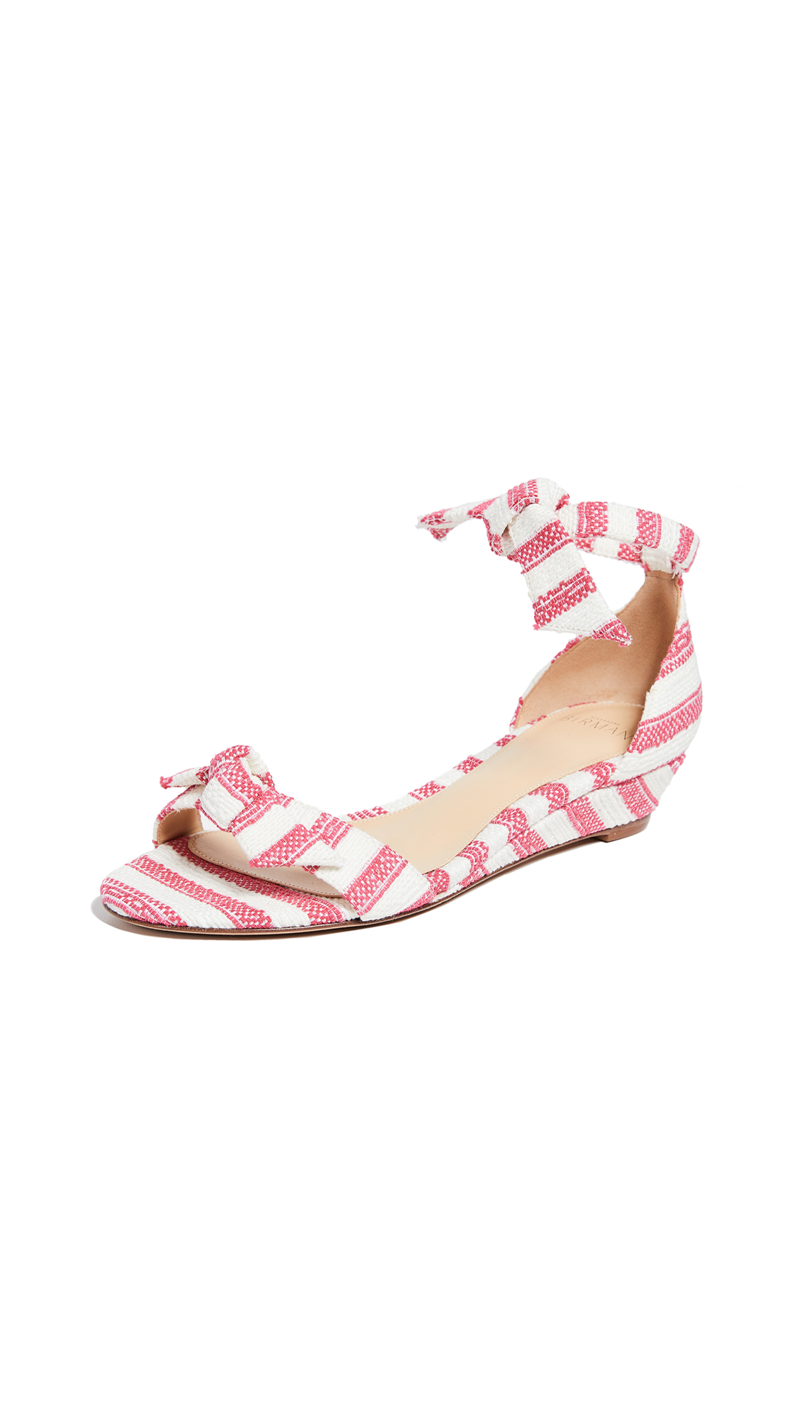 Alexandre Birman Clarita Demi 35mm Wedge Sandals - Raspberry