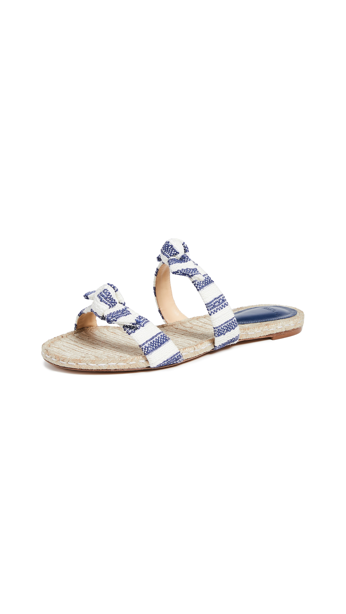 Alexandre Birman Clarita Braided Slide Sandals - Nightsky