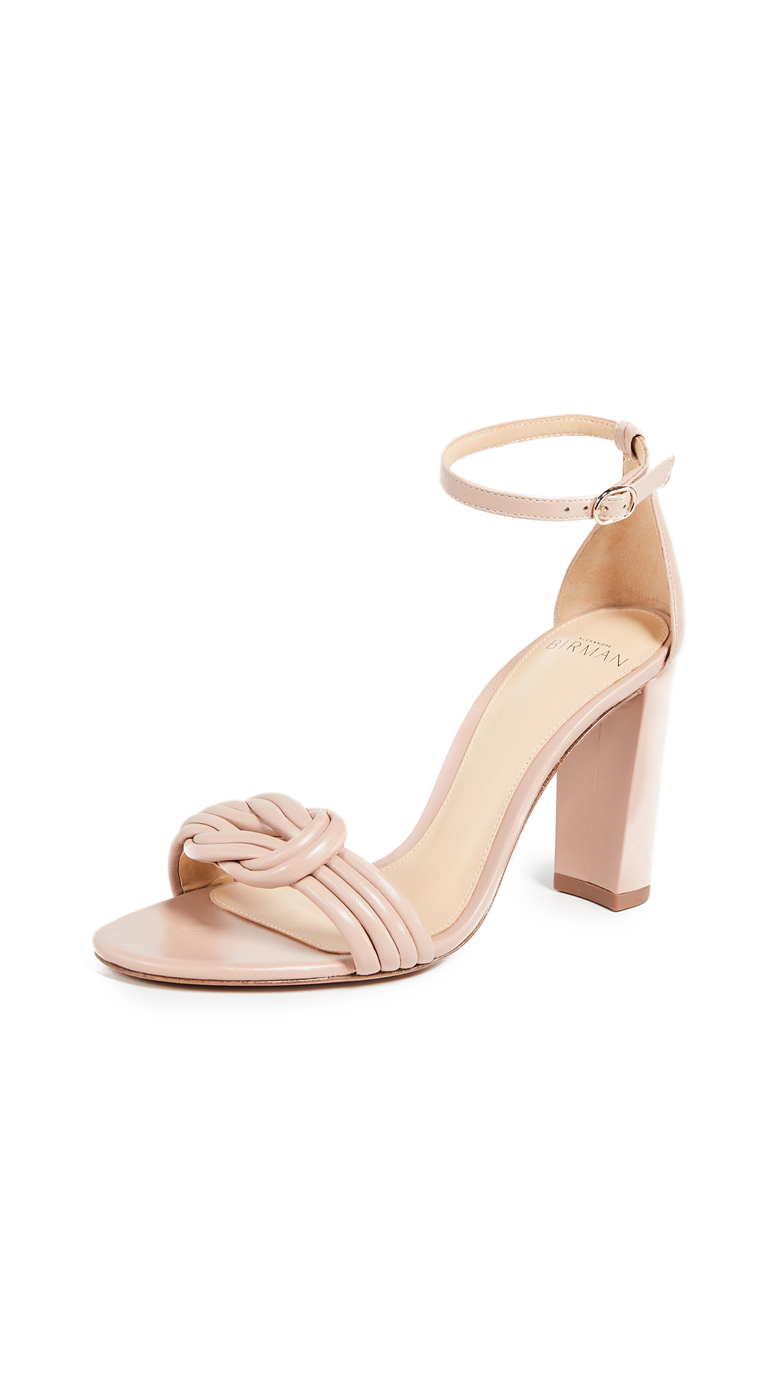 Alexandre Birman Chiara 90mm Block Sandals - Light Sand