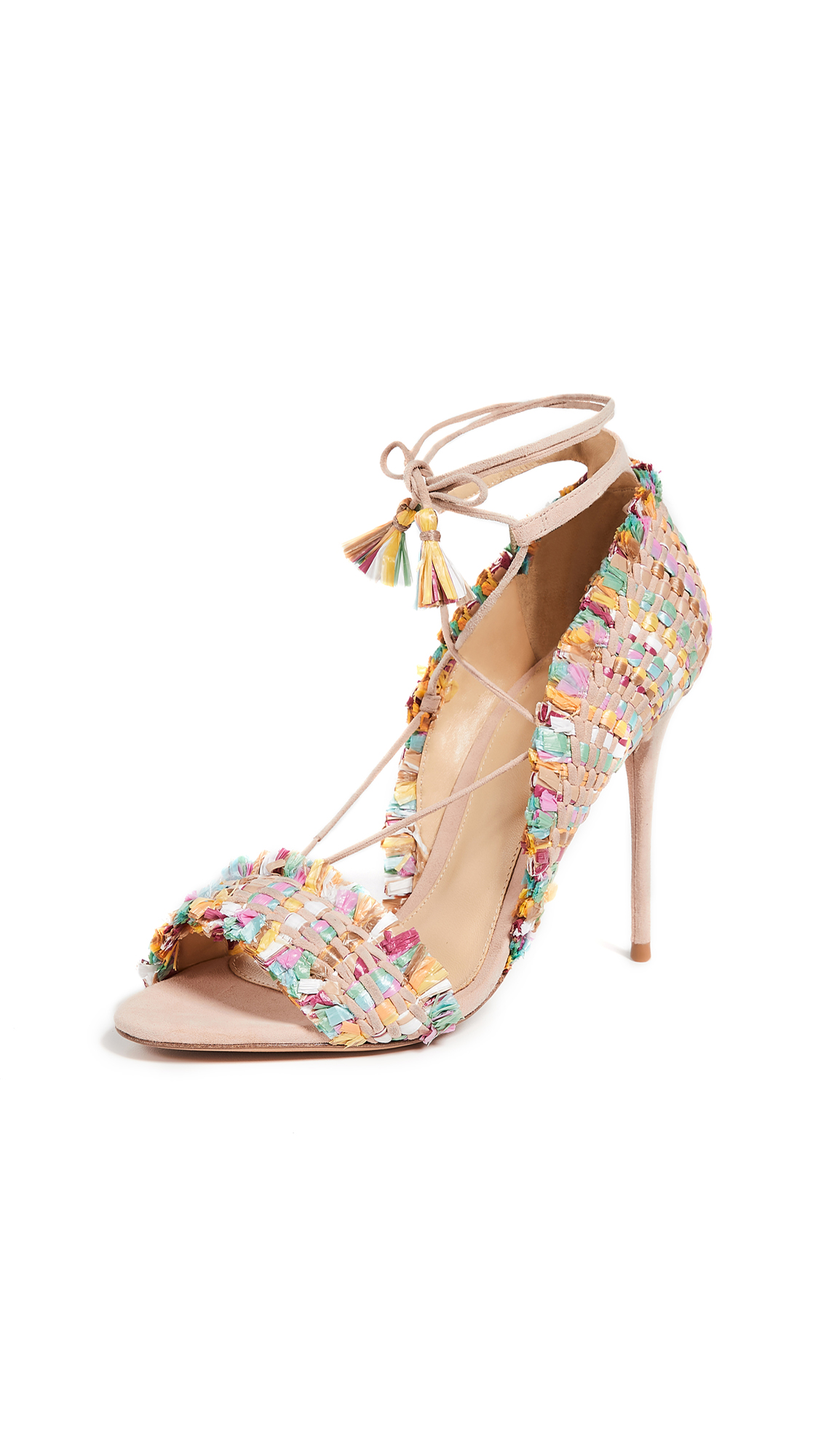 Alexandre Birman Maracatu Sandals - Light Sand/Multicolor