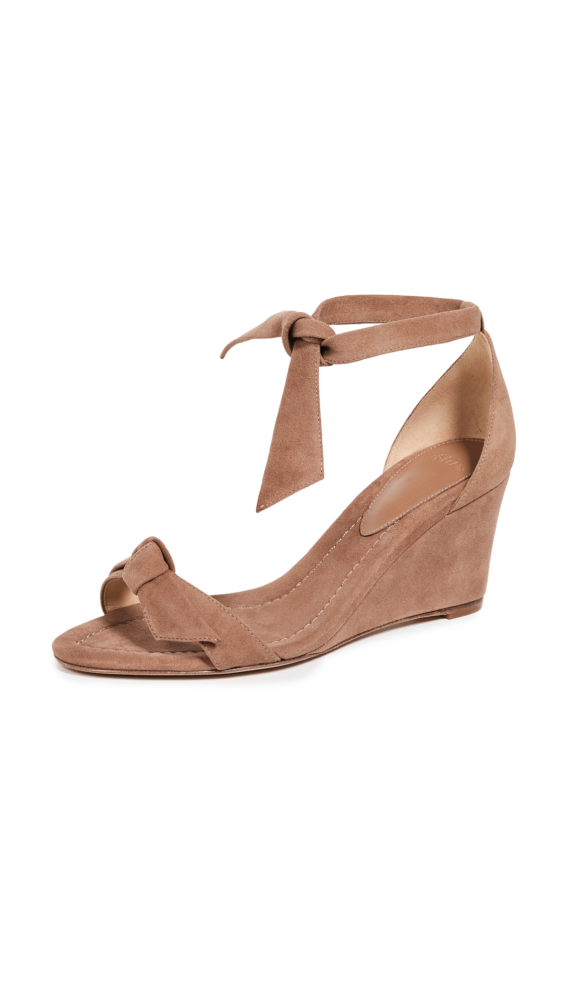 Alexandre Birman Clarita Demi 75mm Wedge Sandals - Light Beige/Natural