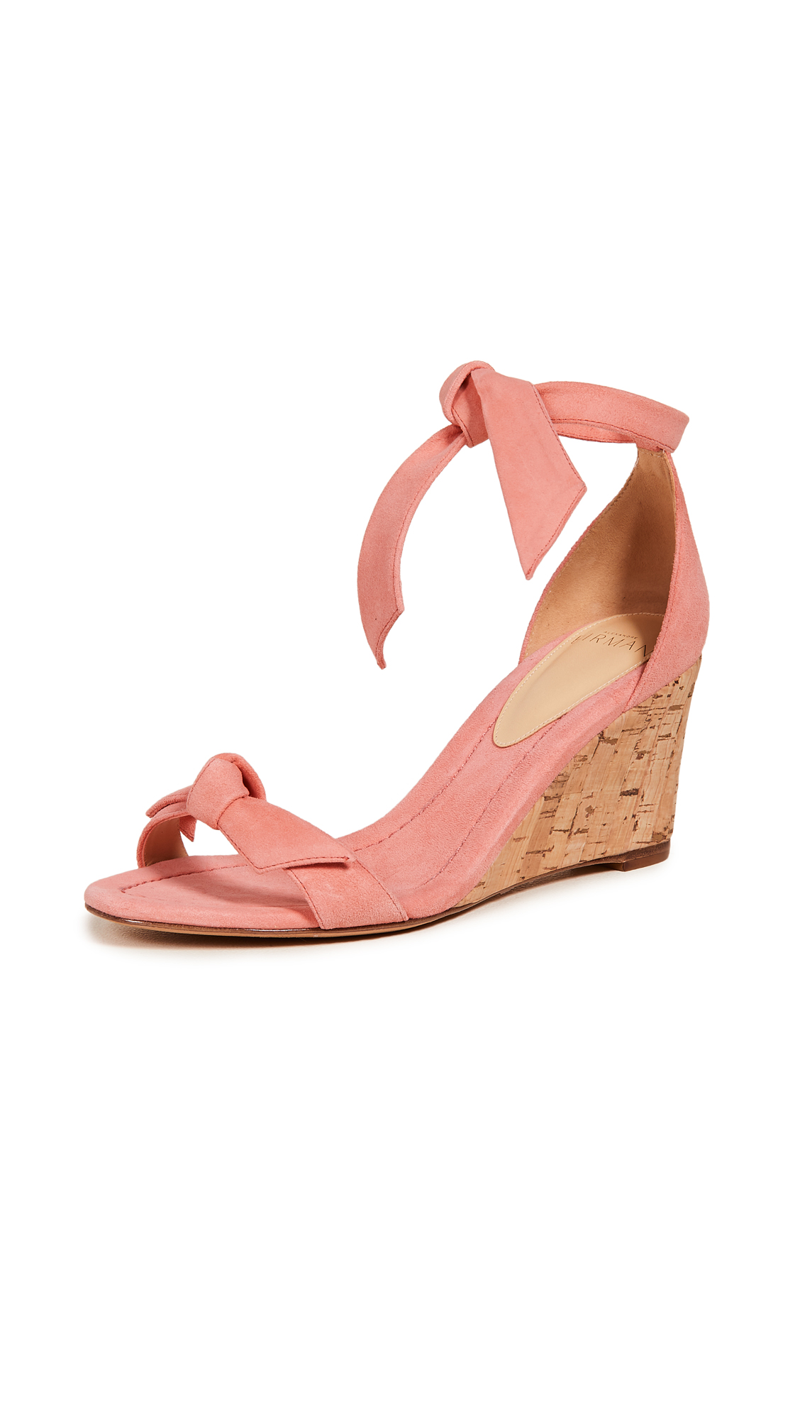 Alexandre Birman Clarita Demi 75mm Wedge Sandals - Papaya/Natural