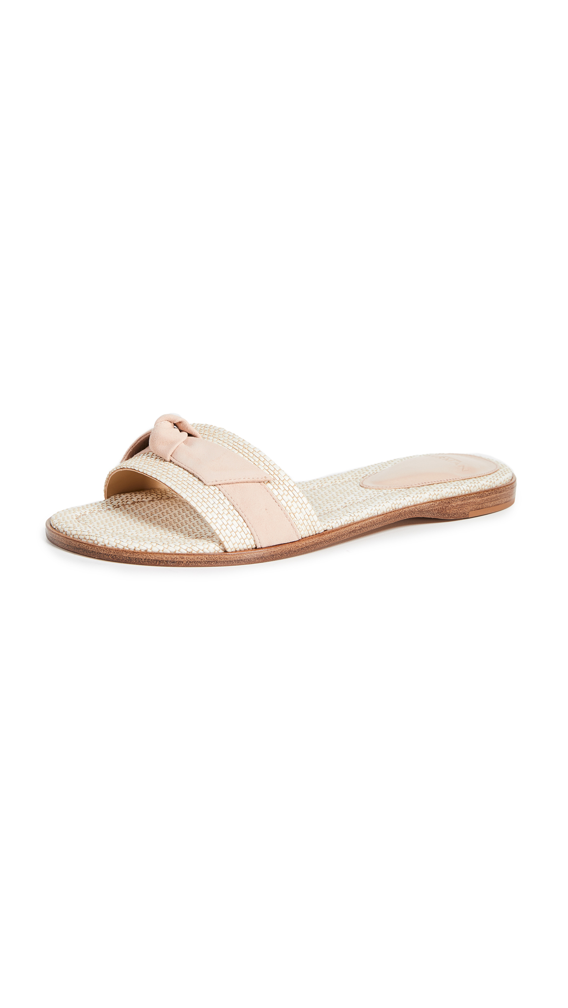 Alexandre Birman Clarita Paglia Slides - Natural/Light Sand
