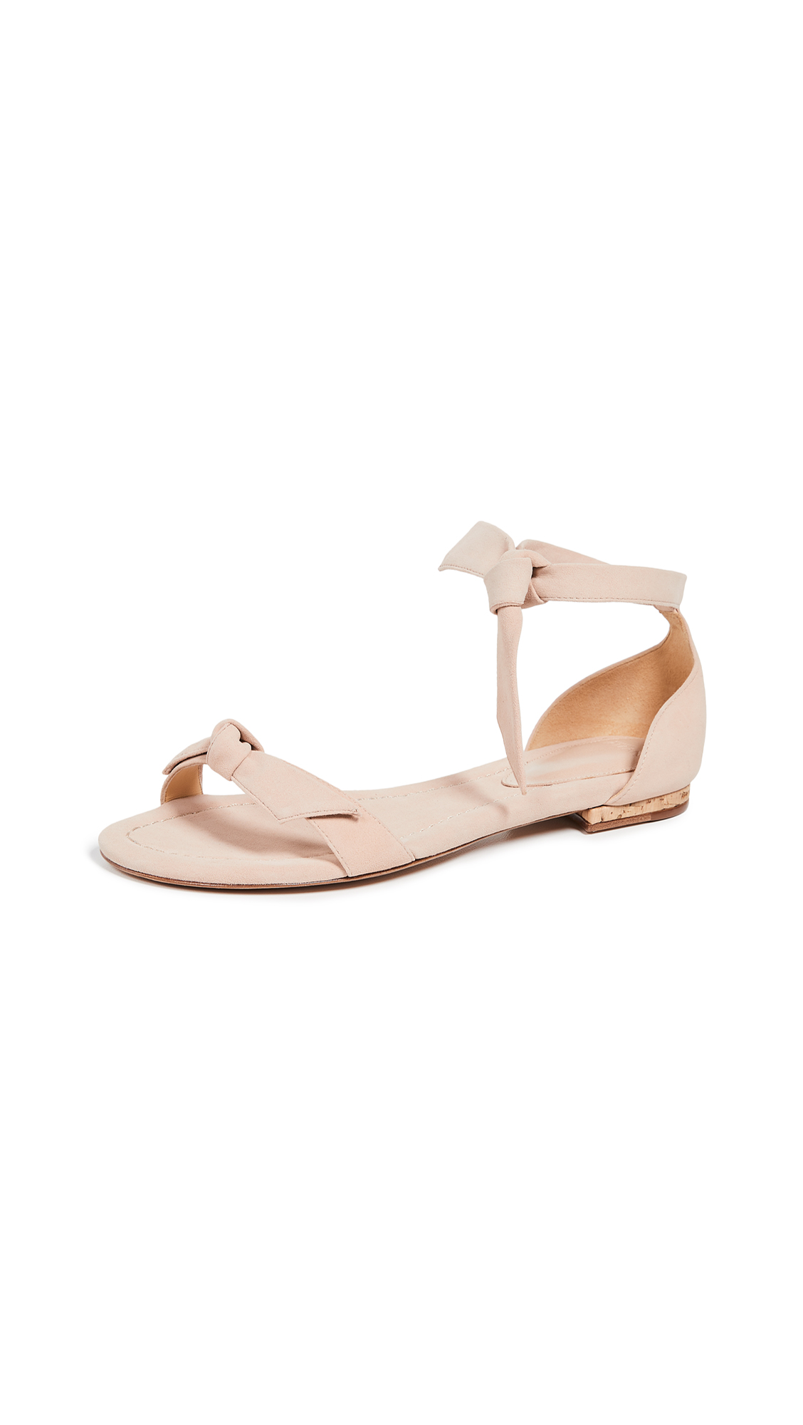 Alexandre Birman Clarita Amalfi Flat Sandals - Light Sand/Natural