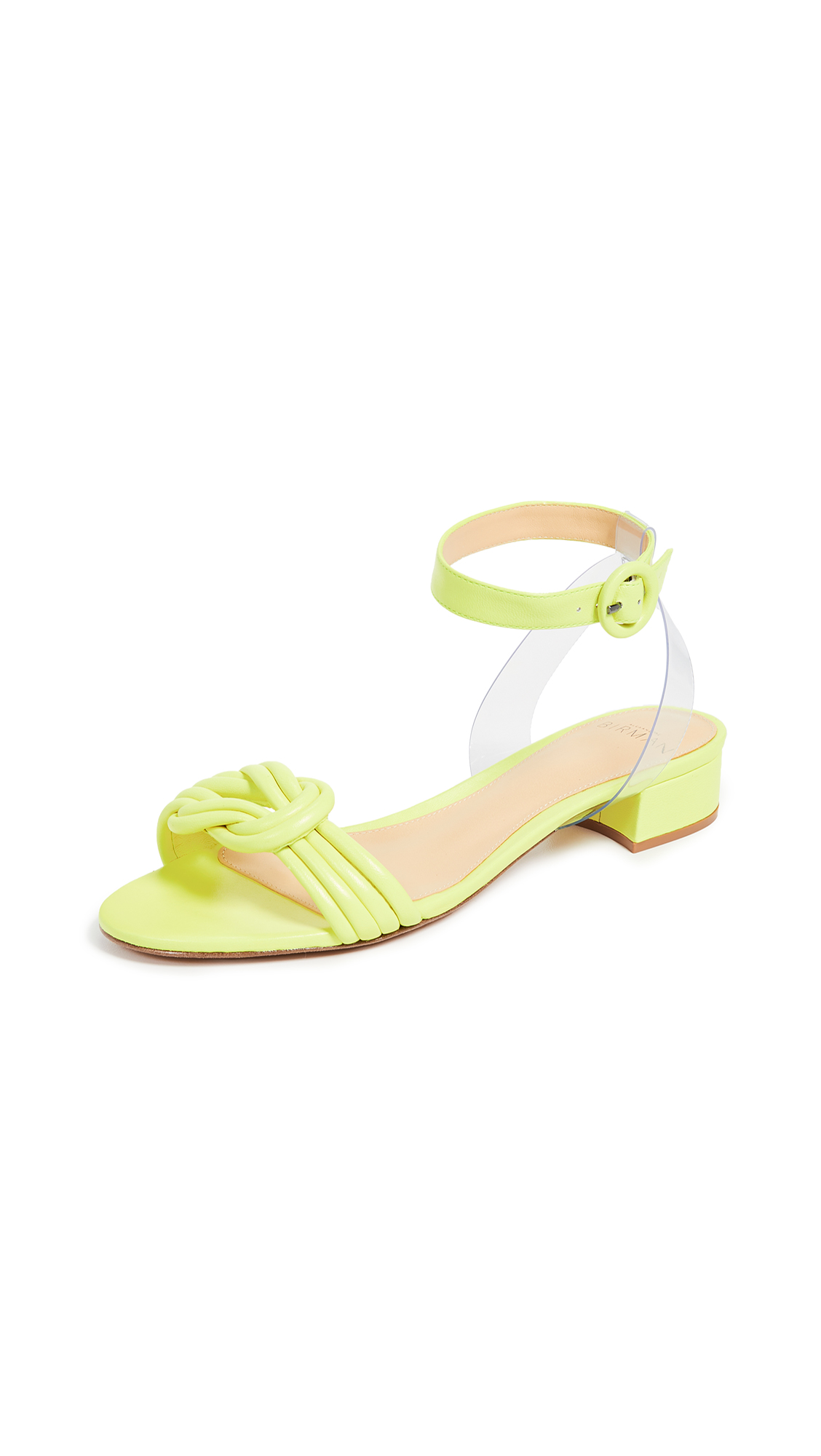 Alexandre Birman Vicky Vinyl 30mm Sandals - Yellow Fluo/Transparent