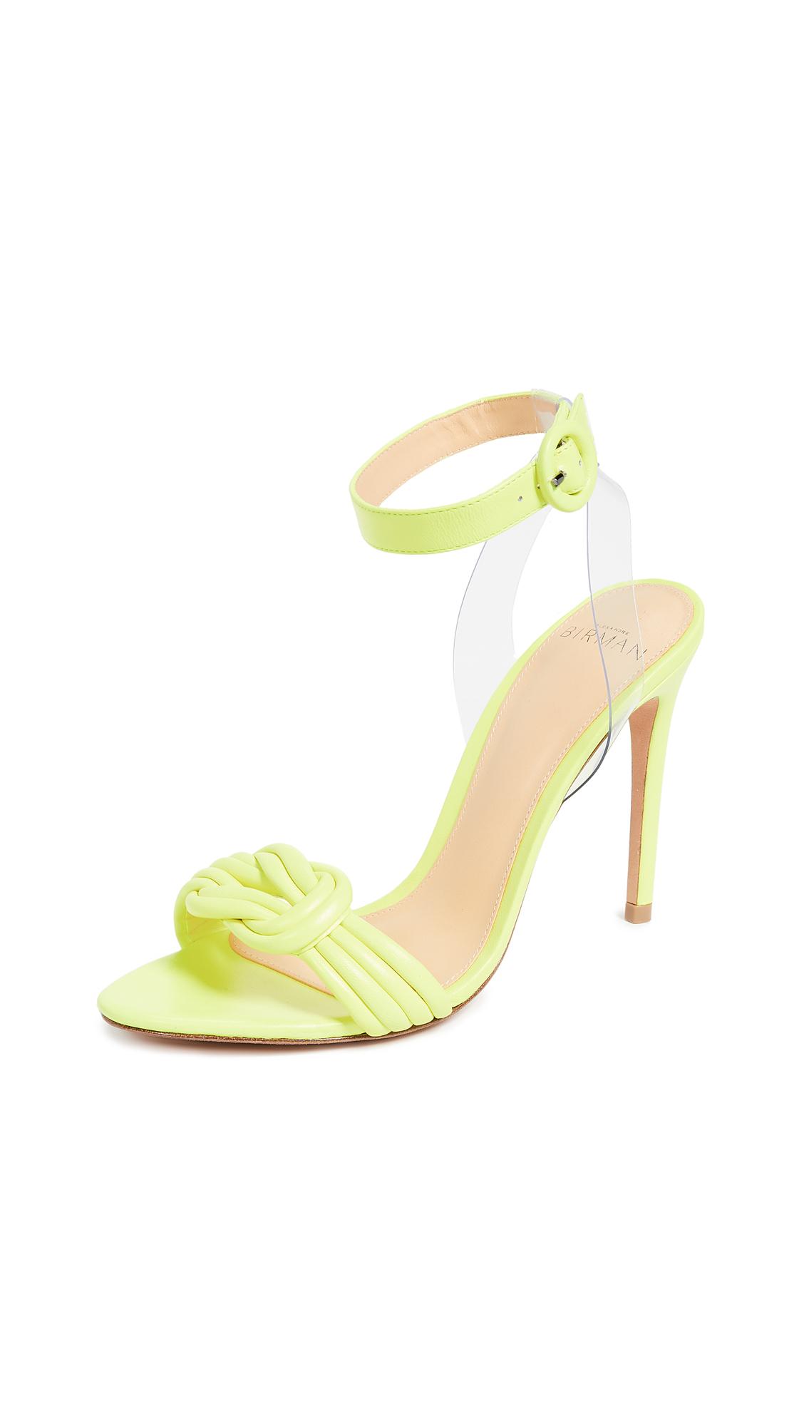 Alexandre Birman Vicky Vinyl 100mm Sandals - Yellow Fluo/Transparent