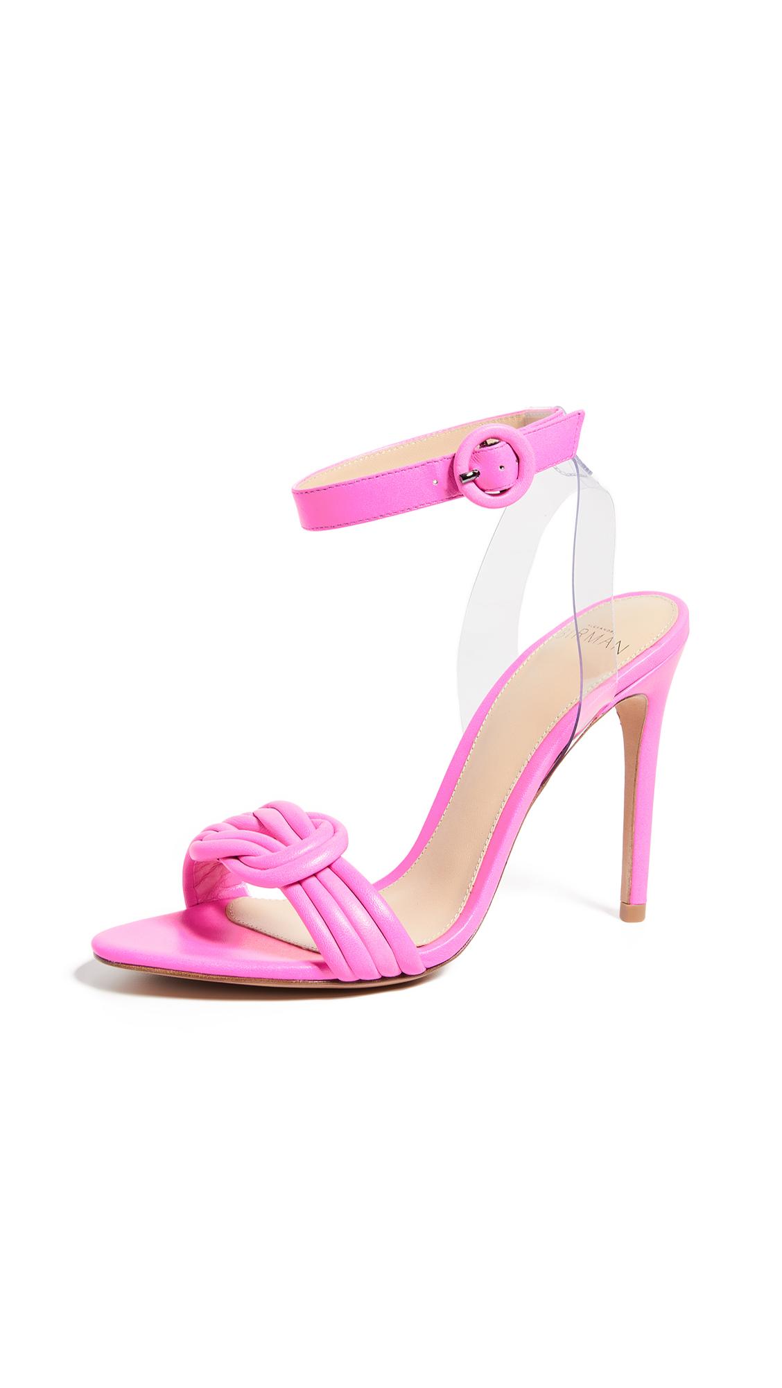 Alexandre Birman Vicky 100mm Sandals - Pink Fluo/Transparent