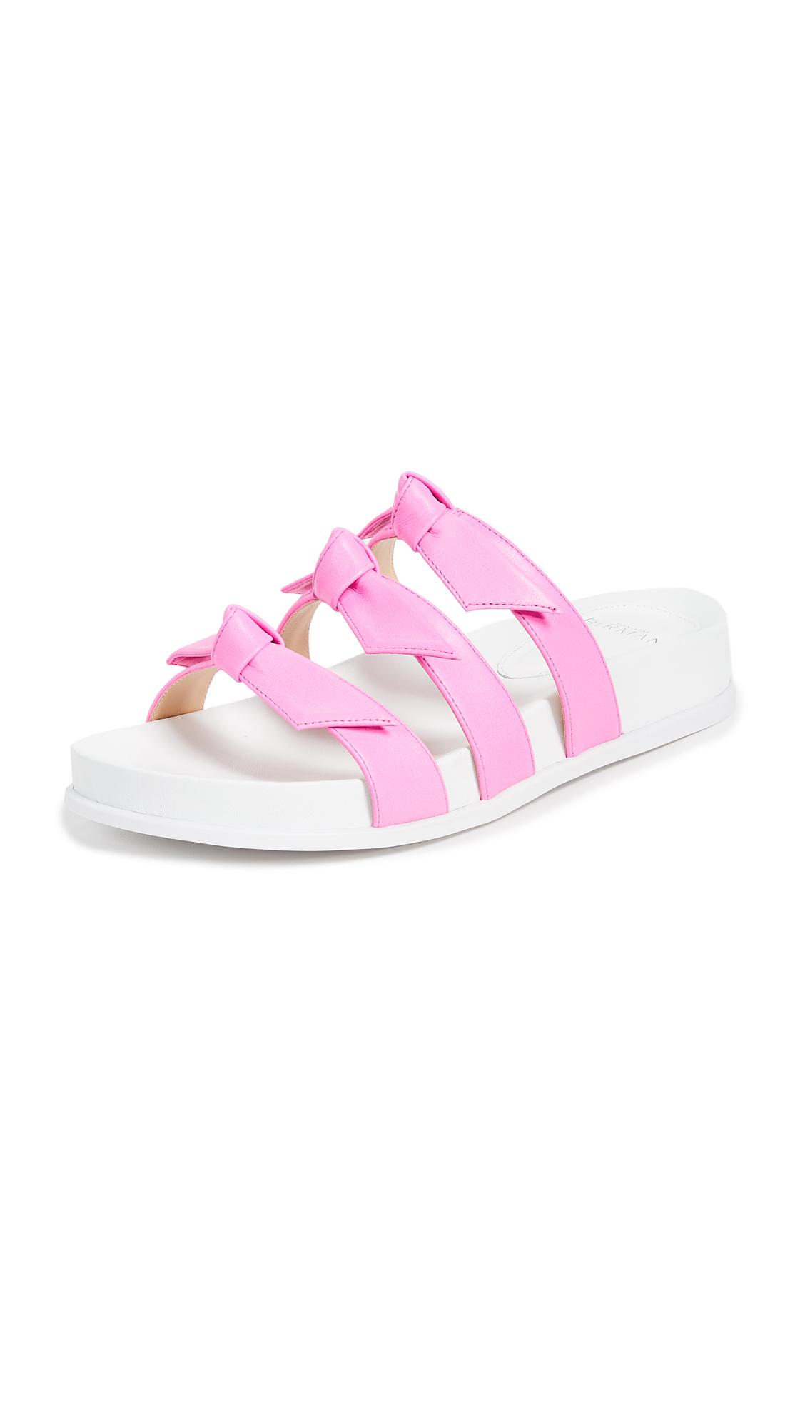 Alexandre Birman Lolita Pool Slides - Pink Fluo/White