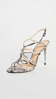 Alexandre Birman Решетчатые сандалии Emma Exotic на каблуках высотой 100 мм