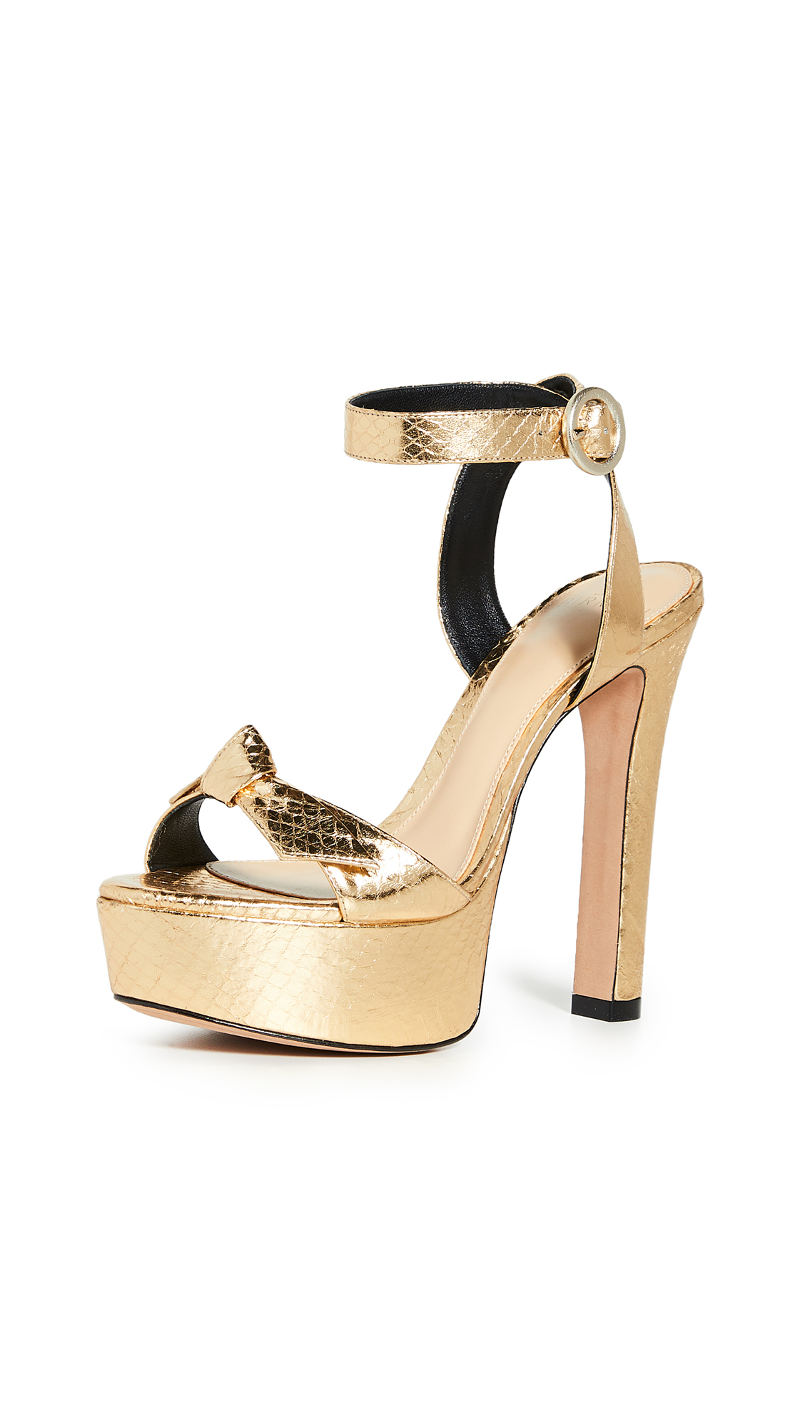 Buy Alexandre Birman online - photo of Alexandre Birman Clarita Evening Plateau Exotic Sandals
