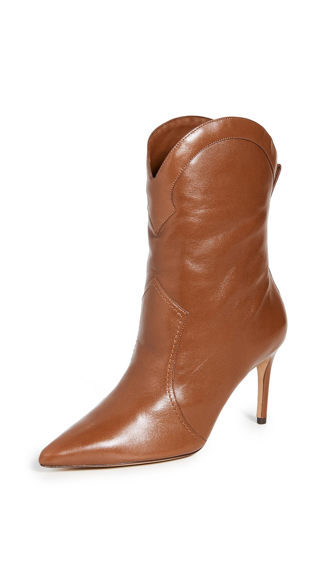 Alexandre Birman Esther 85mm Boots - Cognac