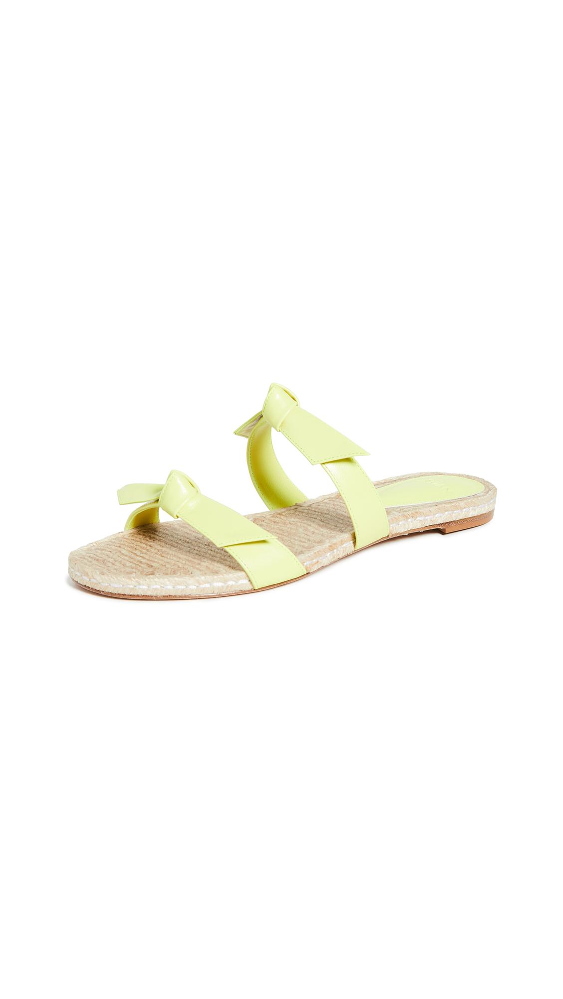 Buy Alexandre Birman Clarita Braided Flat Slides online, shop Alexandre Birman