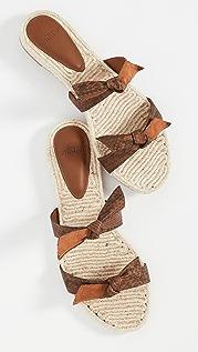 Alexandre Birman Clarita Braided Flat Exotic Slides