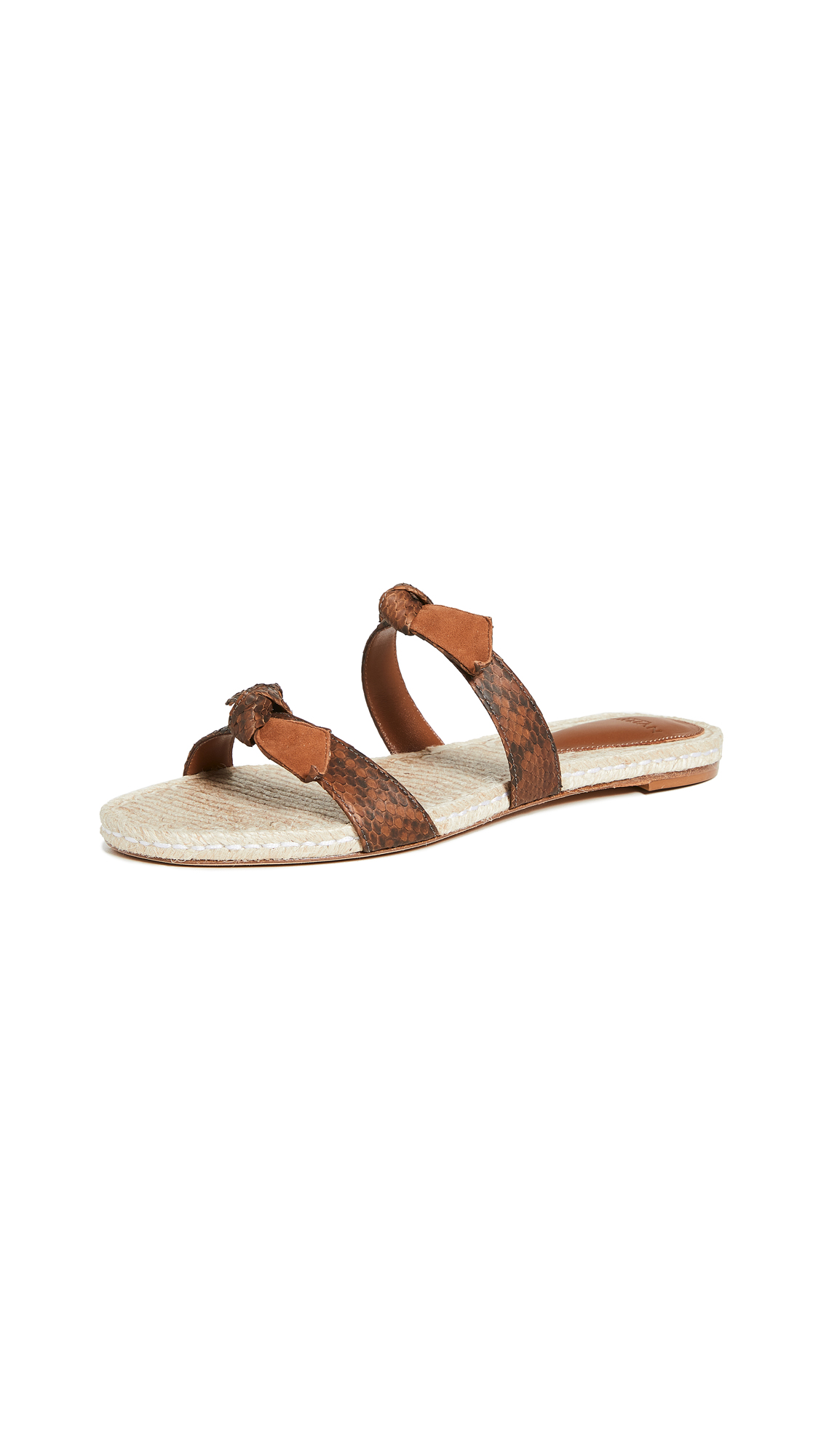 Buy Alexandre Birman online - photo of Alexandre Birman Clarita Braided Flat Exotic Slides