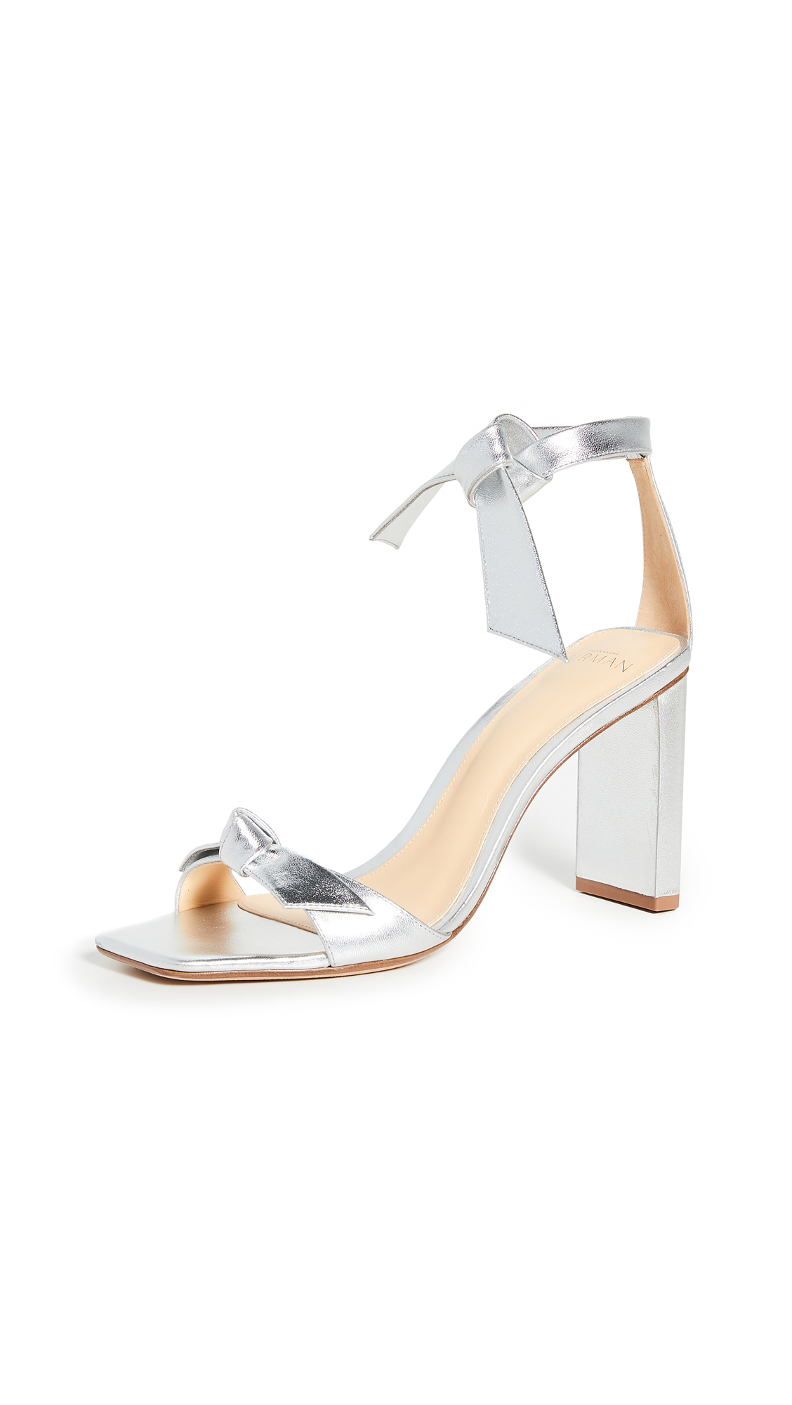 Buy Alexandre Birman online - photo of Alexandre Birman Clarita Square Pillar Sandals 85mm