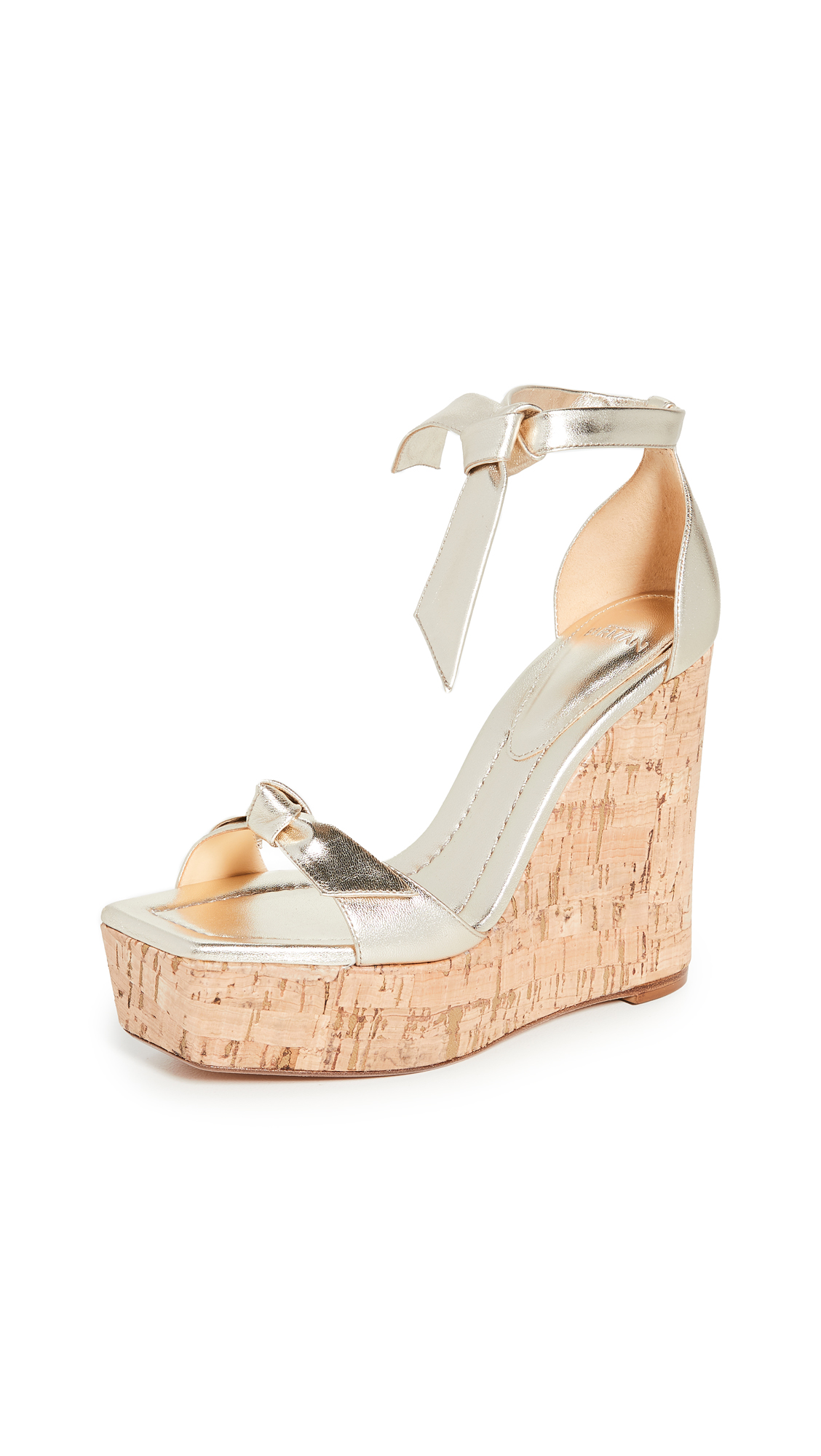 Alexandre Birman Clarita Square Wedge Sandals 130mm - 50% Off Sale