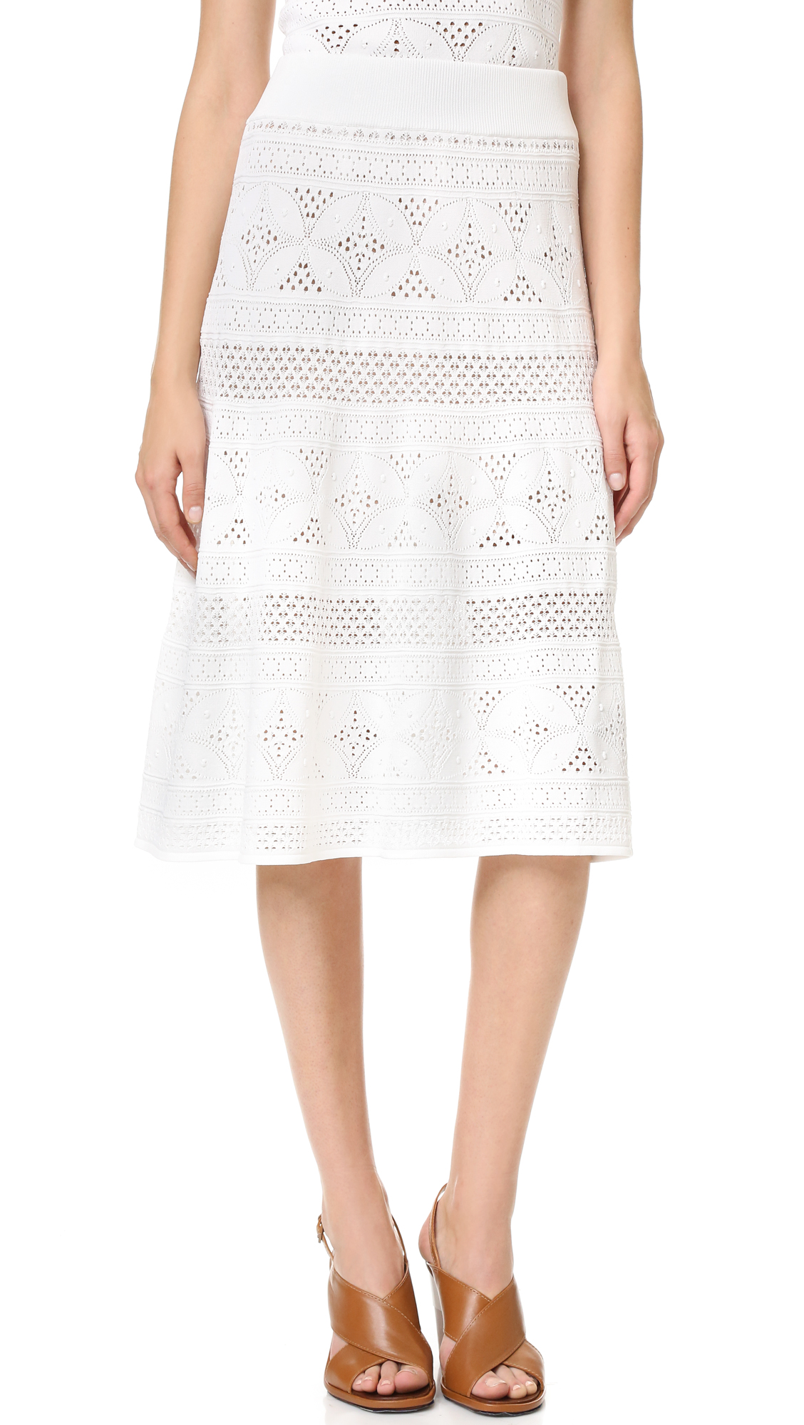 A.L.C. Tunney Skirt - White at Shopbop