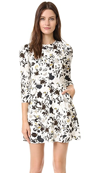 A.L.C. Terry Dress - Eggshell/Black/Blue