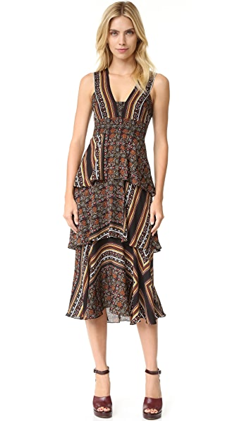 A.L.C. Hayley Dress - Brown Multi