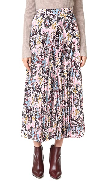 A.L.C. Williams Skirt - Pink/Blue/Mustard