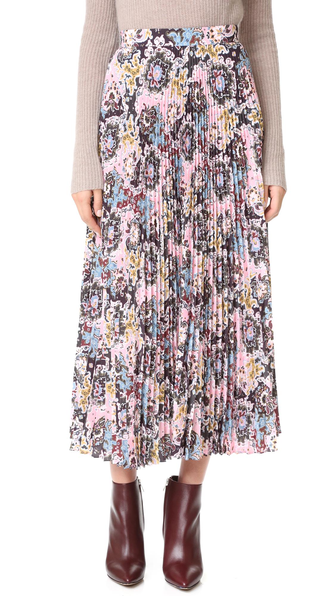A.L.C. Williams Skirt - Pink/Blue/Mustard at Shopbop