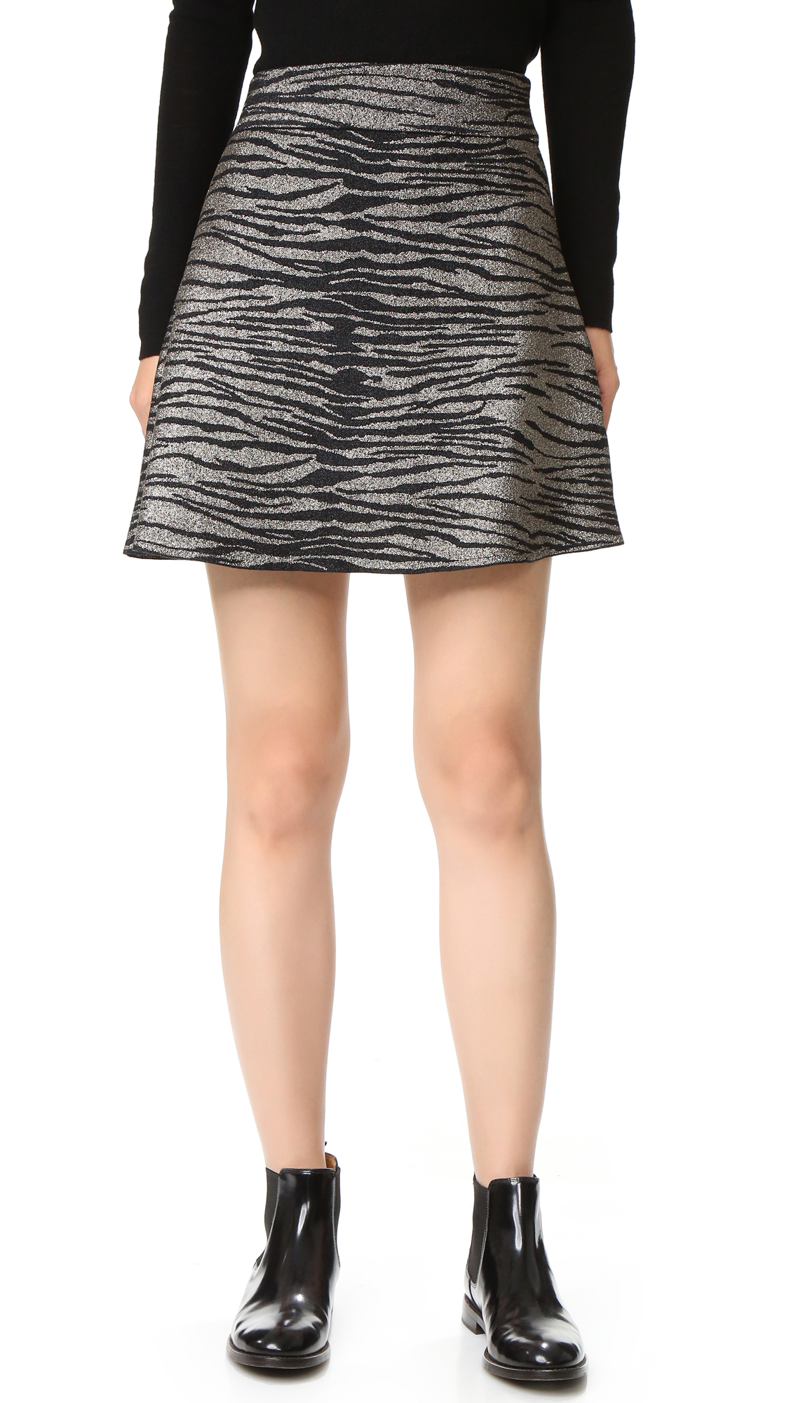 A.L.C. Alonso Skirt - Gold/Black at Shopbop