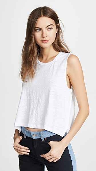 A.l.c Ines Linen Tank In White