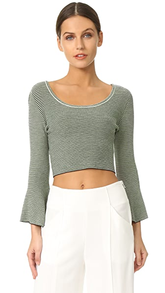 A.L.C. West Top - Green/White/Black
