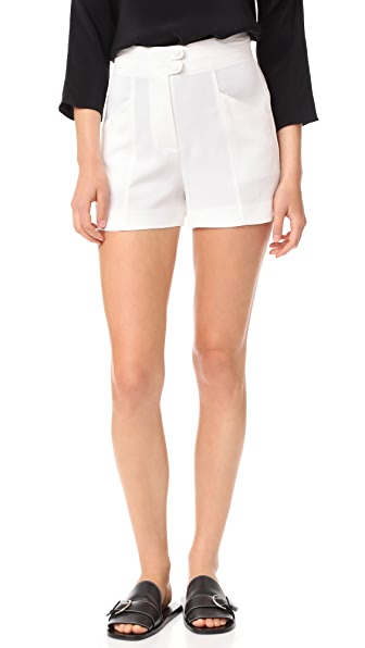 A.L.C. Joan Shorts In White
