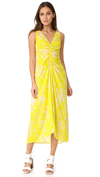 A.L.C. Katherina Dress - Yellow/Eggshell