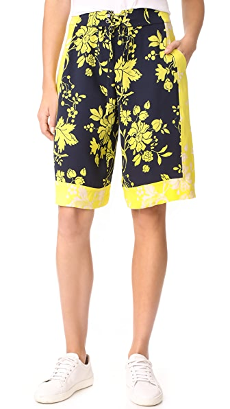A.L.C. Johnston Shorts - Midnight/Yellow