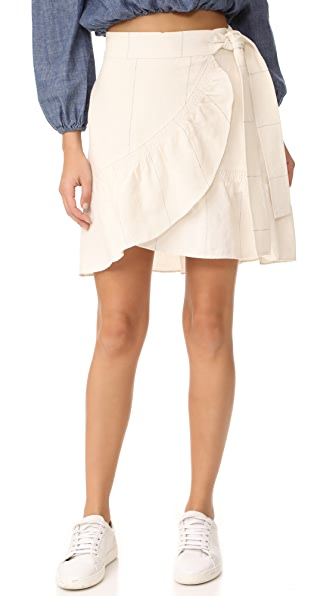 A.L.C. Hampton Skirt In White/Midnight