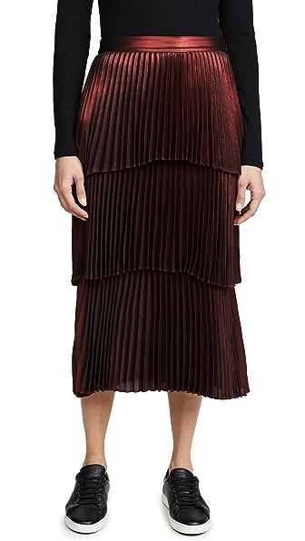 A.L.C. Harley Skirt In Scarlett