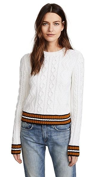 A.L.C. Alpha Sweater In White/Amber/Black