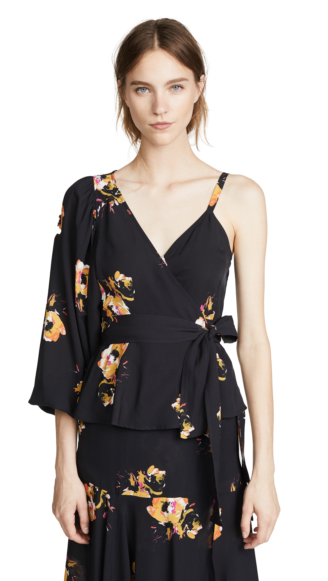 Mickalene Top in Black,Floral A.L.C.