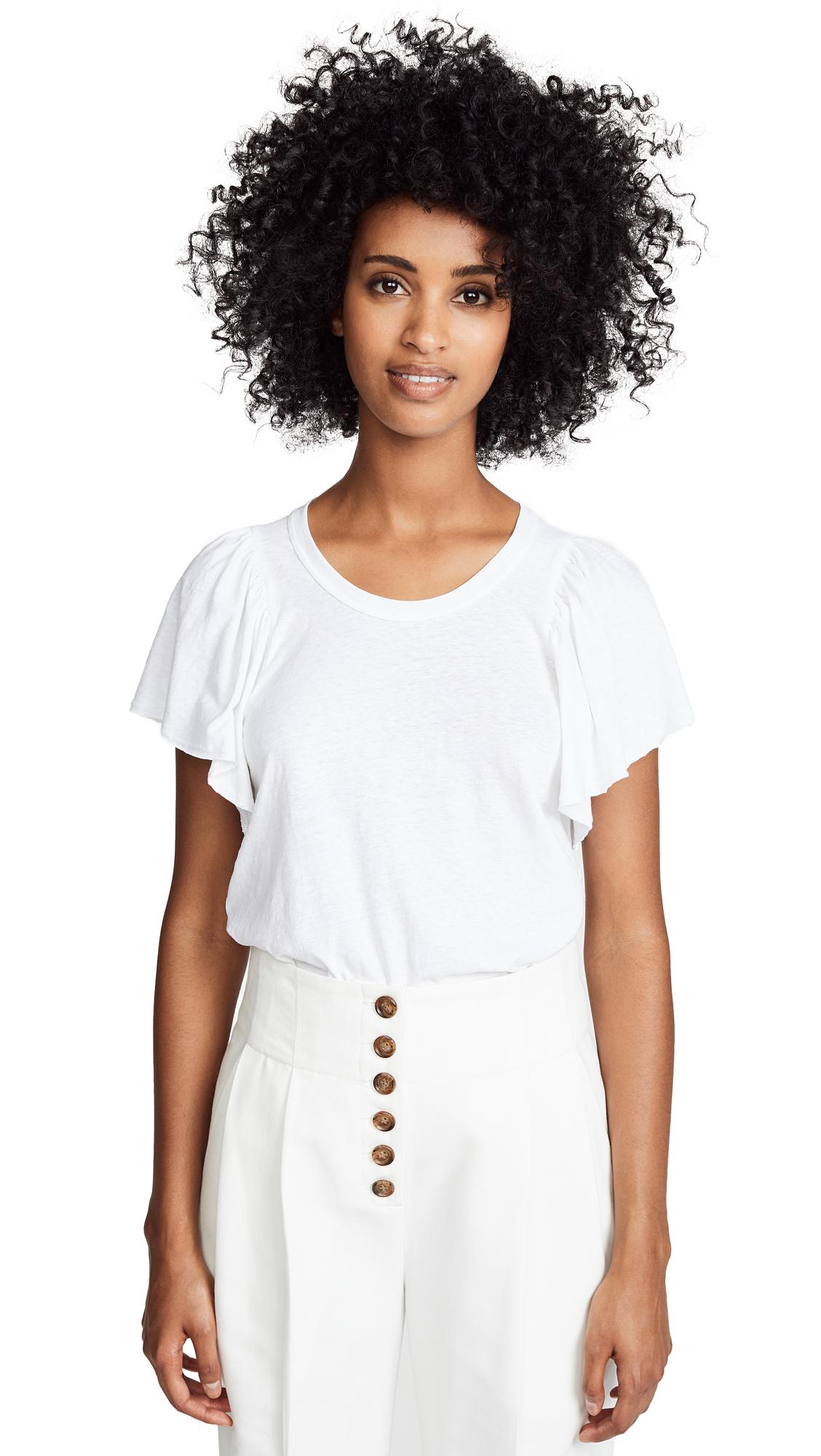 A.L.C. Simone Tee In White