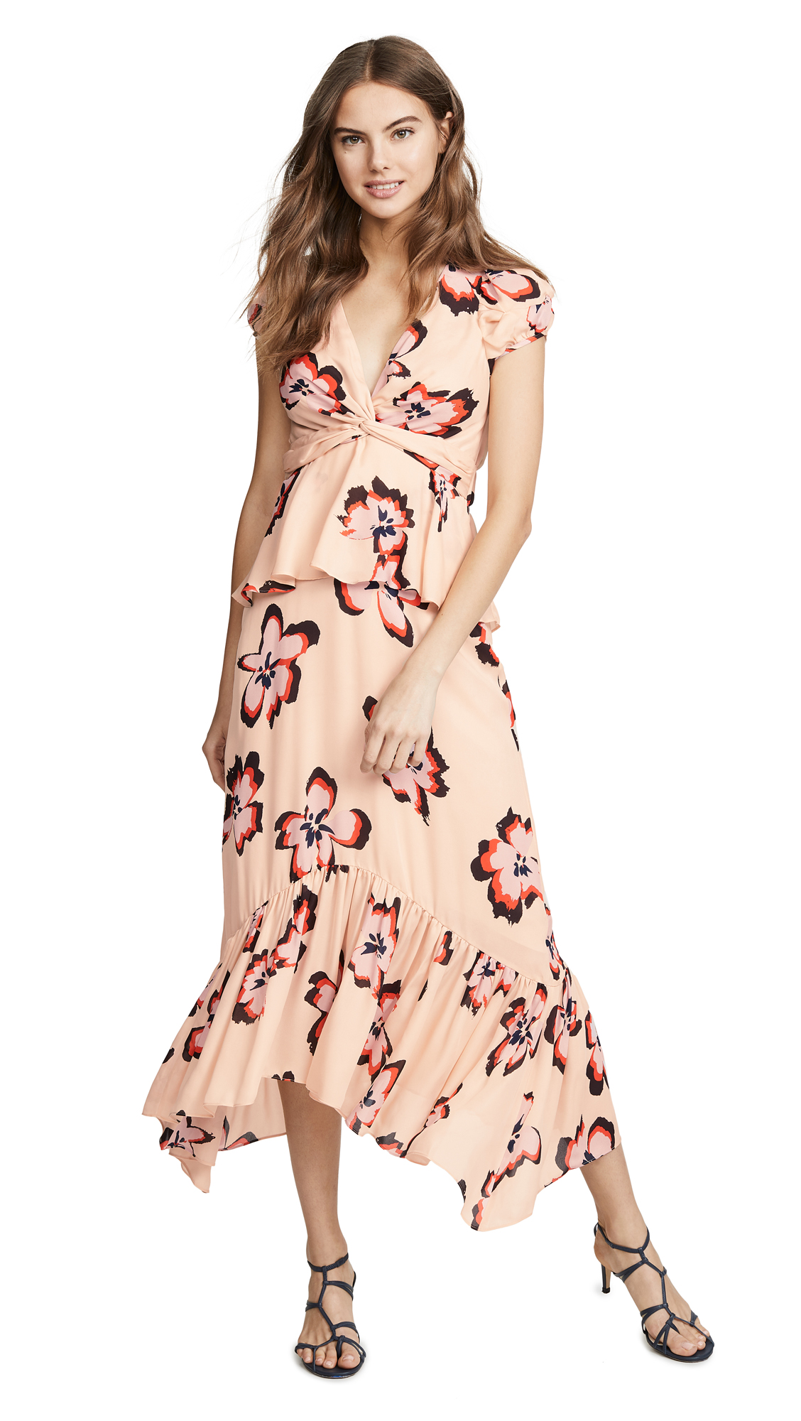 A.L.C. Zadie Dress - Blush/Pink Flower