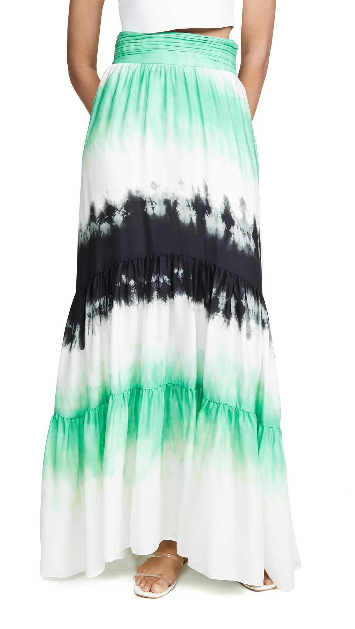 A.L.C. Hopkins Skirt - Green/Black