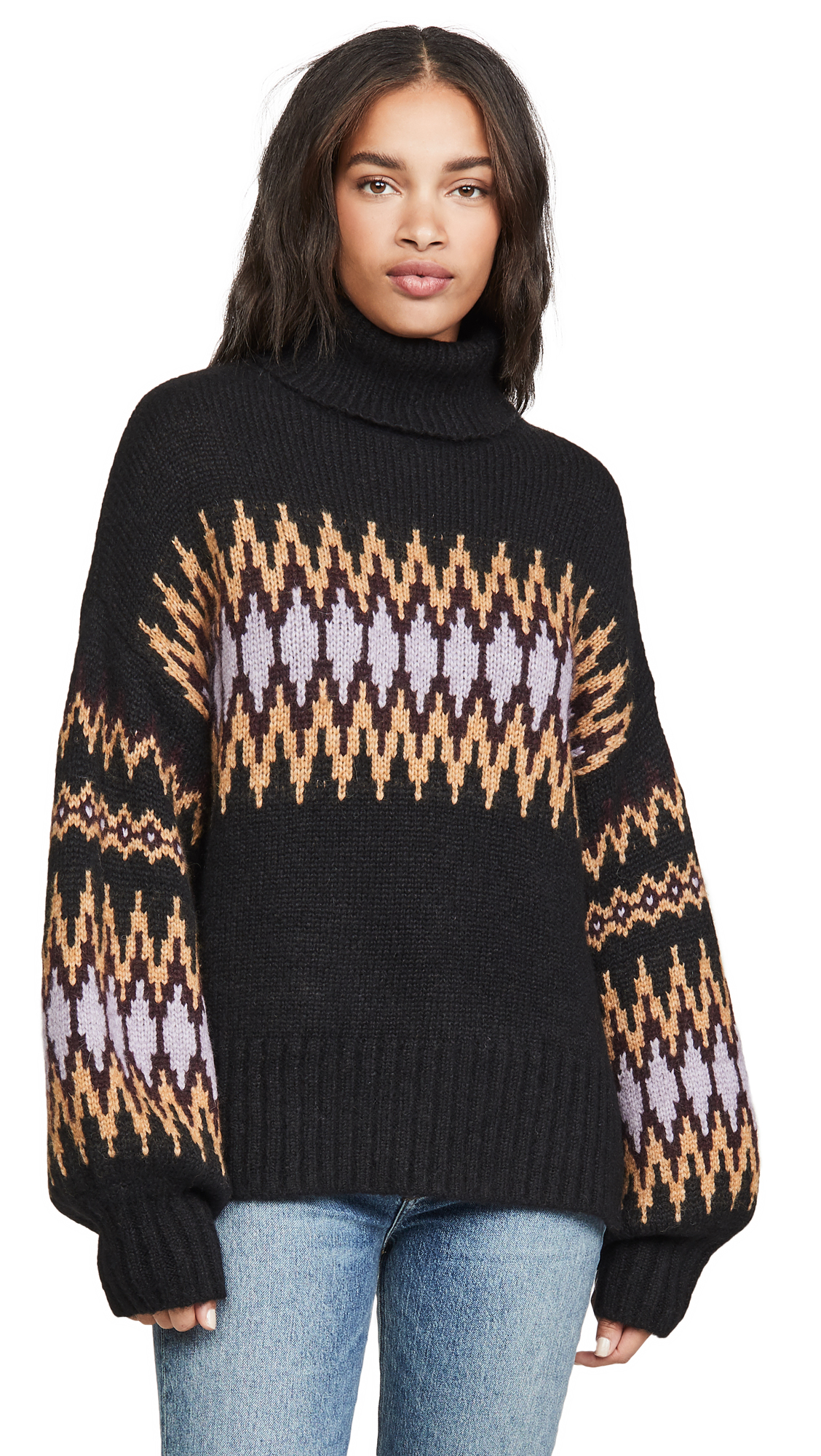 Buy A.L.C. online - photo of A.L.C. Tracey Alpaca Fair Isle Sweater