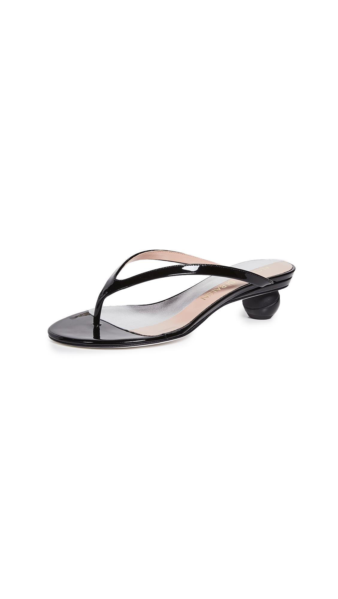 Alchimia di Ballin Vernice Thong Sandals - Black