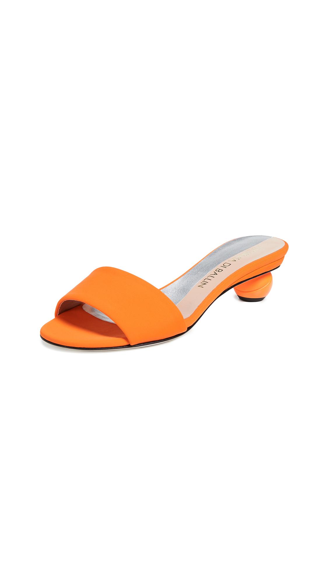 ALCHIMIA DI BALLIN Neoprene Slides in Orange