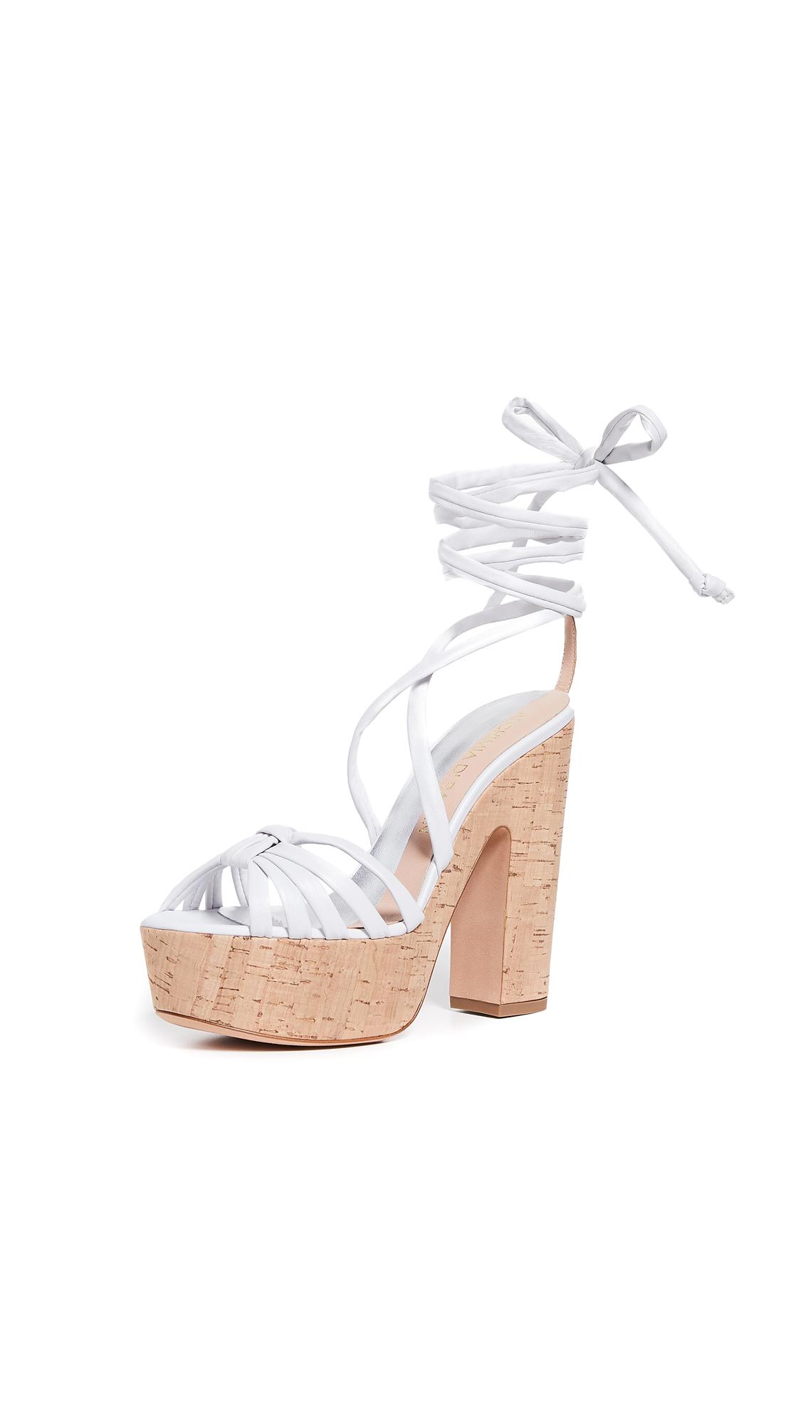 3b6eacfb0 Alchimia Di Ballin Bikini Platform Sandals In White | ModeSens