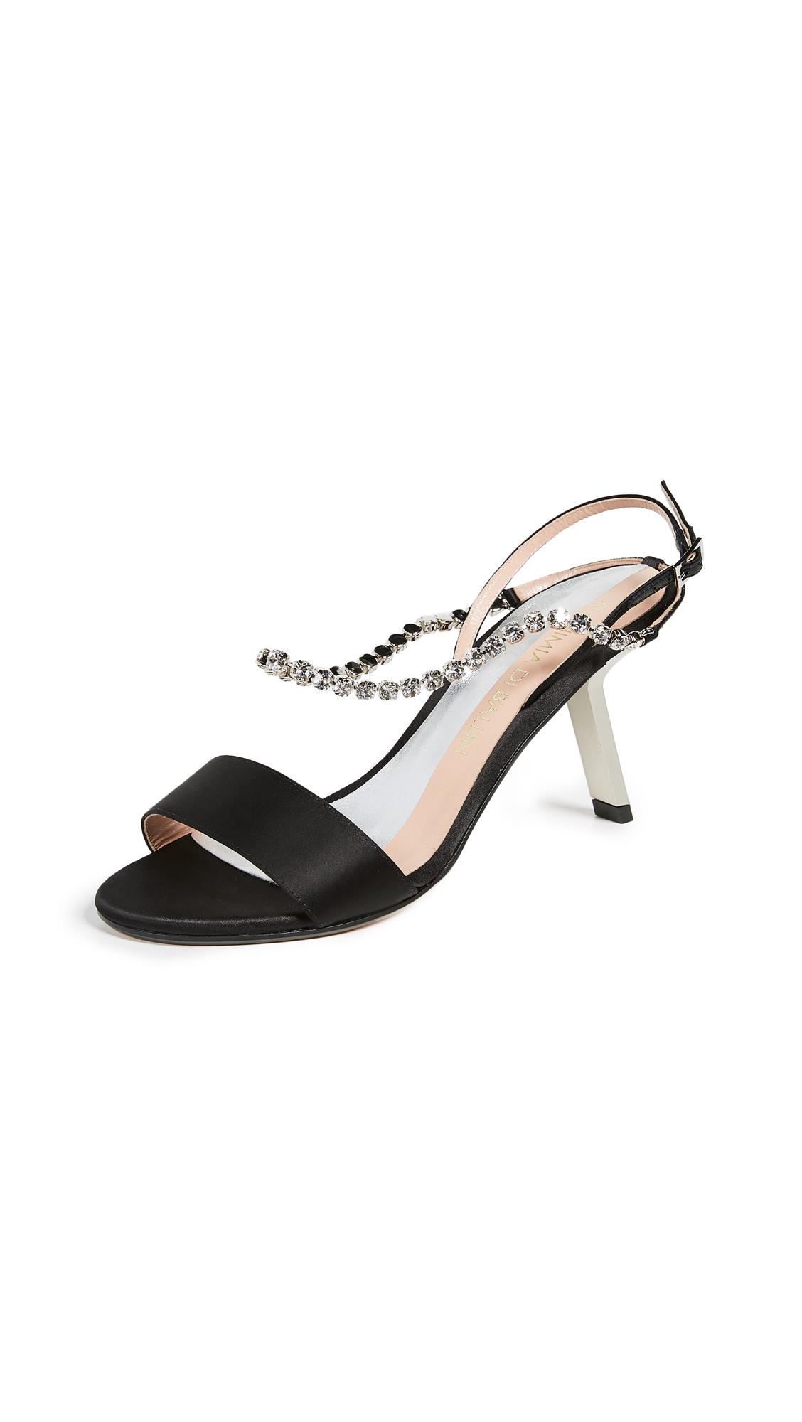 Alchimia di Ballin Satin Strass Sandals - Black