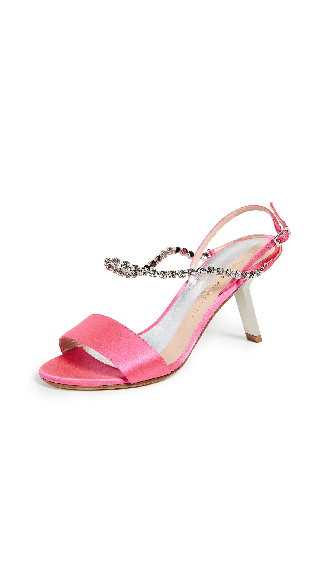 Alchimia di Ballin Satin Strass Sandals - Shocking Pink