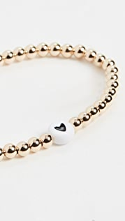 Alexa Leigh 4mm Black Heart Bracelet