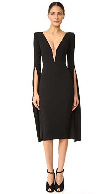 Alex Perry Paige Open V Sleeve Dress