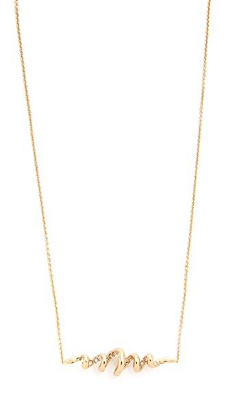 Alexis Bittar Encrusted Spiral Pendant Necklace
